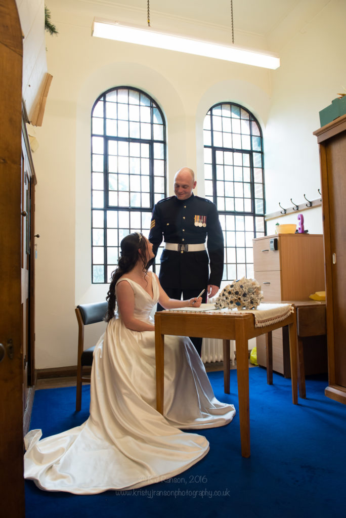 army wedding