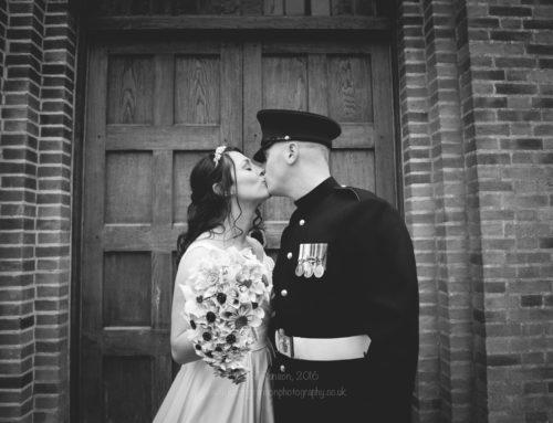 Fun northeast army wedding